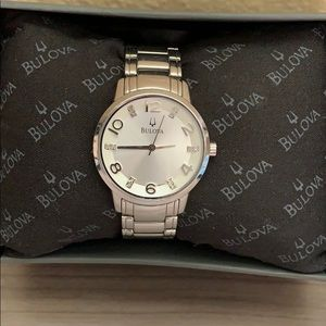 🎉SALE!!! Bulova fine woman's watch with diamonds